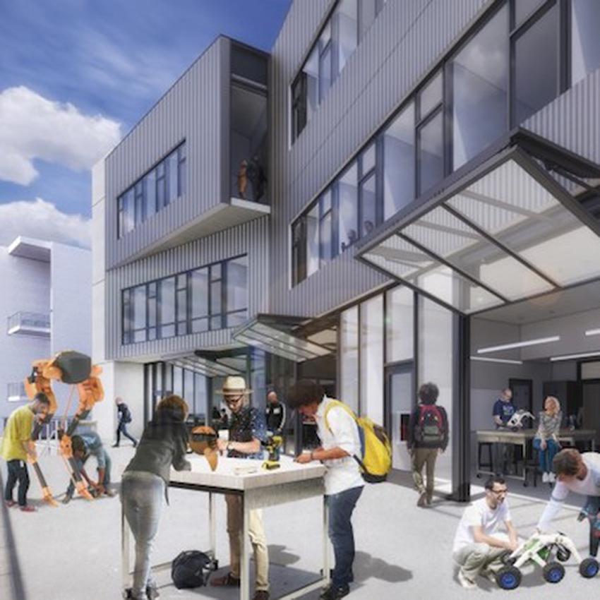Grand Entrance Design And Innovation Building